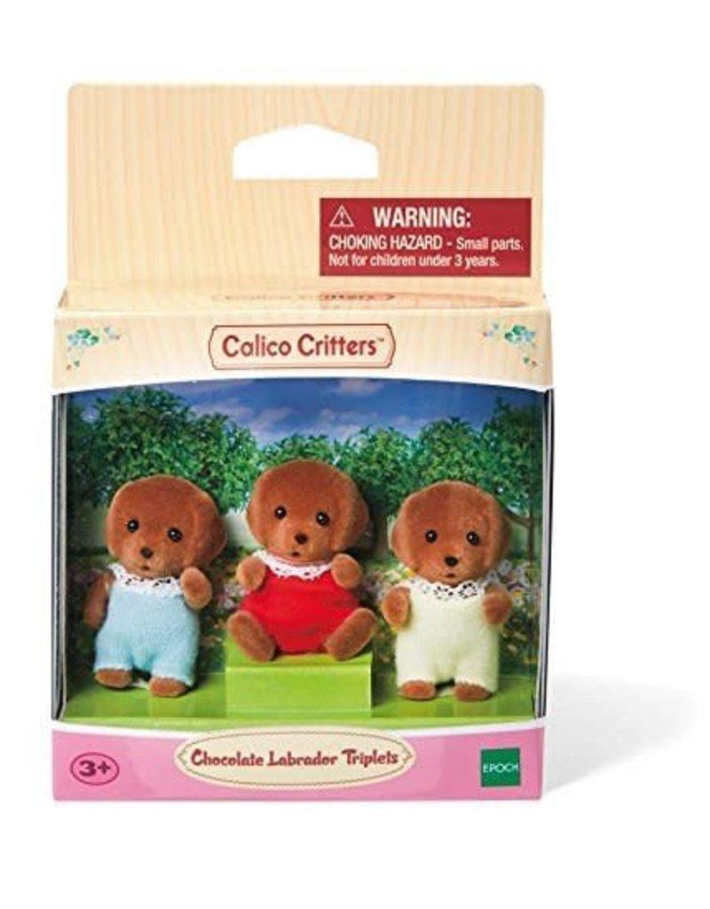 Epoch Calico Critters Chocolate Labrador Triplets