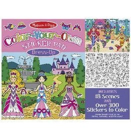 Melissa & Doug Color-Your-Own Sticker Pad - Dress Up