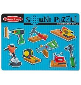 Melissa & Doug Peg & Sound Puzzle - Construction Tools