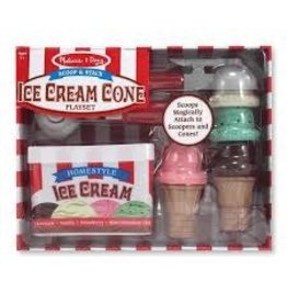 Melissa & Doug Scoop & Stack Ice Cream Cone Playset