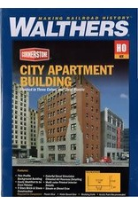 "Walthers City Apartment Building - Kit - 8-1/8 x 5-3/16 x 12-11/16""  20.6 x 13.2 x 32.2cm"