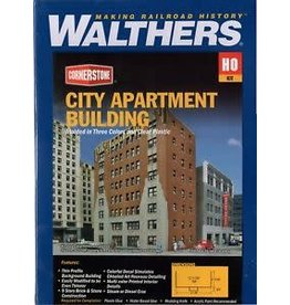 Walthers Hobby Building Walthers Cornerstone HO Scale - City Apartment