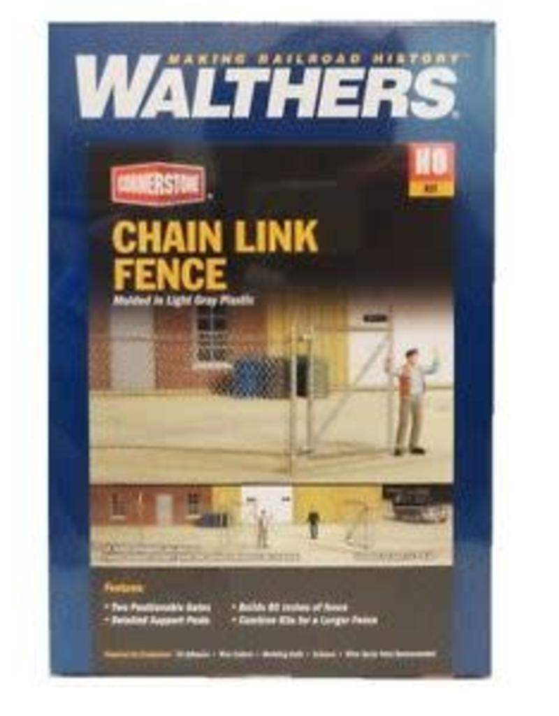 """Walthers Chain Link Fence - Kit - Approximately 80""""  203cm, Up to 2 Gates"""