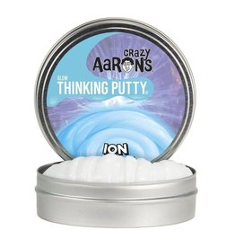 """Crazy Aaron Putty Crazy Aaron's Thinking Putty Ion Glow 4"""" Tin"""