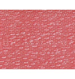 John Randall HO Scale Red Brick Wall Sheets Set of Three 7-1/2 x 10-1/2""
