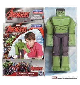 "MARVEL Paper Craft Posable Figure 12"" - Hulk"
