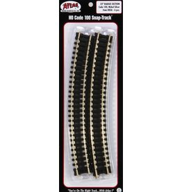 "ATL Hobby Atlas Curved Snap-Track  - 18"" Radius (Package of 6)"