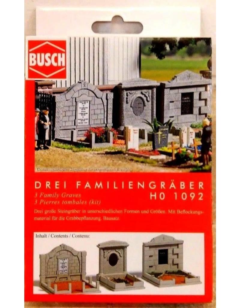 Busch Hobby Busch Ho Scale Three Family Graves
