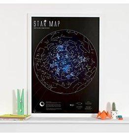 Round world Glow in the Dark Star Map