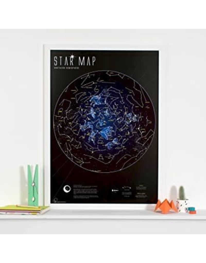 Round world Poster - Glow in the Dark Star Map