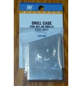 Walthers Hobby Tools - Drill Case w/Bit Set -- Includes #61-80 Drills