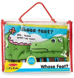 Melissa & Doug Baby Soft Book - Whose Feet?