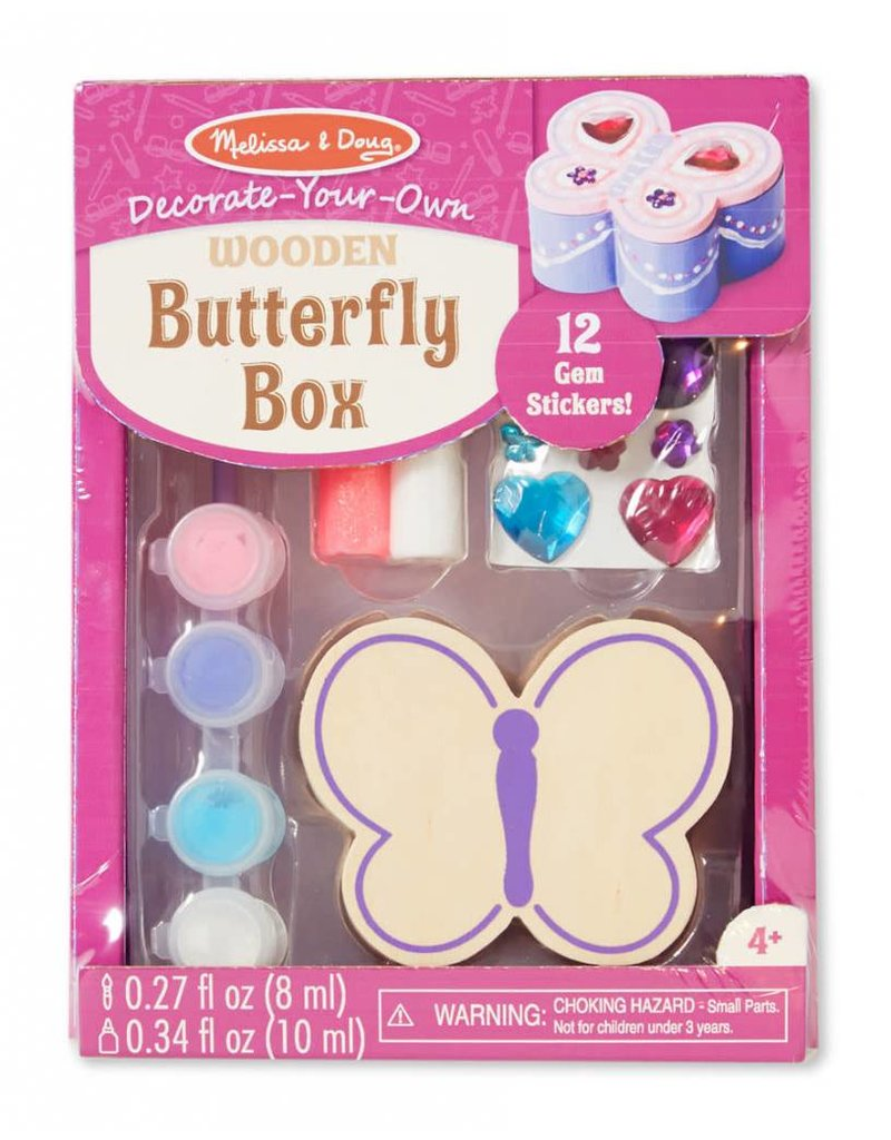 Melissa & Doug Craft Kit Decorate Your Own Butterfly Box