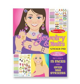 Melissa & Doug Sticker Glitter Collection Pad - Jewelry & Nails