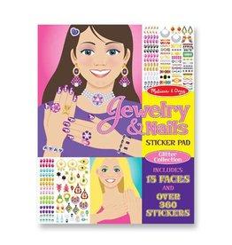 Melissa & Doug Sticker Glitter Collection Pad - Jewelry & Nails