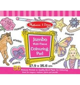 Melissa & Doug Jumbo Coloring Pad - Multi Theme (Princess, Horse, Rose, Wand, Ring, and More!)
