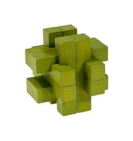 Fridolin IQ Test Bamboo Puzzle - Olive Green