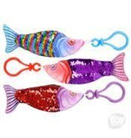 "Rhode Island Novelty Sequin Fish 4"" Keychain"