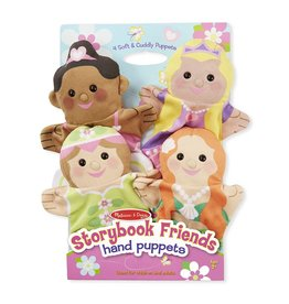 Melissa & Doug Hand Puppets - Princess, Fairy, Mermaid, Ballerina