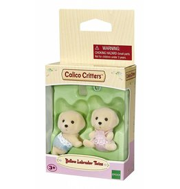 Calico Critters Calico Critters Yellow Labrador Twins with Bottle and Pacifier