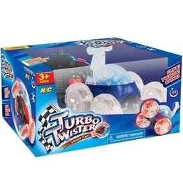 Mindscope Products Turbo Twisters Stunt LED RC Car - Blue (49 Mhz)