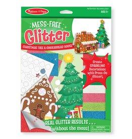 Melissa & Doug Craft Kit Mess-Free Glitter Christmas Tree & Gingerbread House