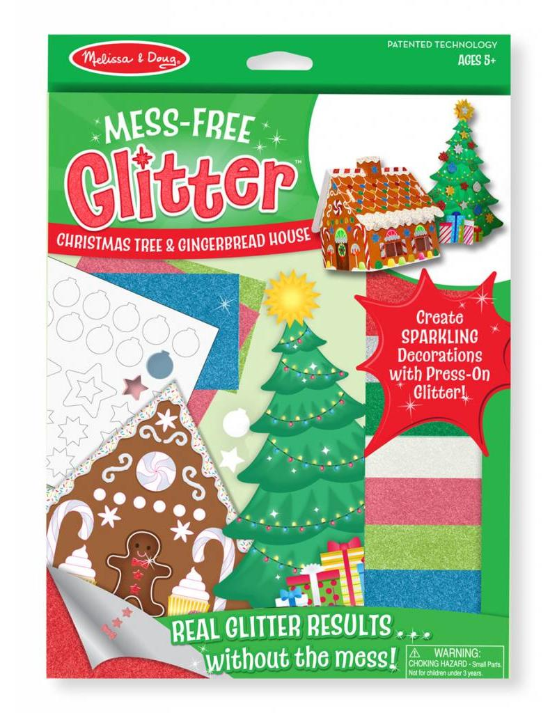 Melissa & Doug Mess-Free Glitter Christmas Tree & Gingerbread House
