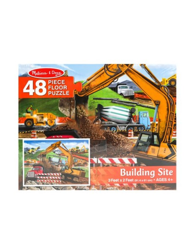 Melissa & Doug Floor Puzzle - Building Site - 48 Piece