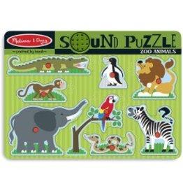 Melissa & Doug Sound Puzzle- Zoo Animals