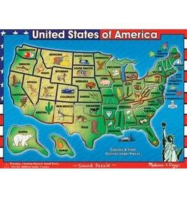 Melissa & Doug Sound Puzzle- USA
