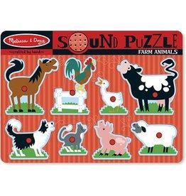 Melissa & Doug Sound Puzzle - Farm Animals