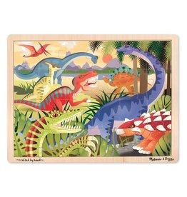 Melissa & Doug Wooden Jigsaw Puzzle In A Box - Dinosaur