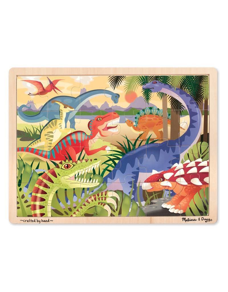 Melissa & Doug Wooden Jigsaw Puzzle - Dinosaur