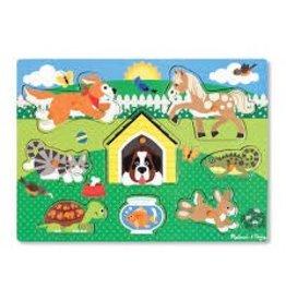 Melissa & Doug Peg Puzzle - Pets