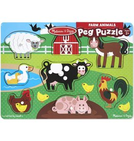 Melissa & Doug Peg Puzzle - Farm Animals