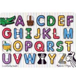 Melissa & Doug Peg Puzzle - See Inside Alphabet