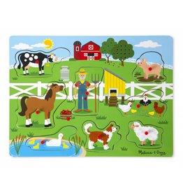 Melissa & Doug Peg & Sound Puzzle - Old Macdonald's Farm