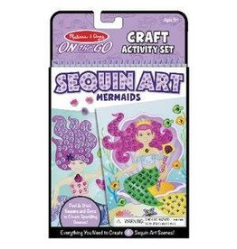 Melissa & Doug On-the-Go Sequin Art Mermaids