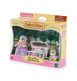 Epoch Calico Critters Patty and Paden's Double Stroller Set