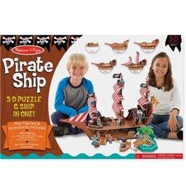 Melissa & Doug 3D Puzzle & Ship - Pirate Ship