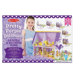 Melissa & Doug Pretty Purple Dollhouse 3D Puzzle
