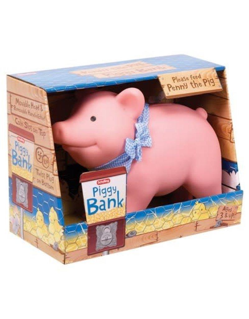 Schylling Toys Rubber Piggy Bank