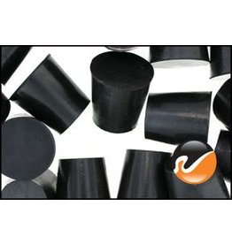 American Educational Products Rubber Stopper Size 4 - Solid Black