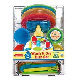 Melissa & Doug Wash & Dry Dish Set