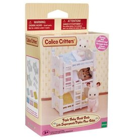 Epoch Calico Critters Triple Baby Bunk Beds