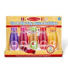Melissa & Doug Play Food - Tip & Sip Toy Juice Bottles