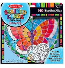 Melissa & Doug Craft Kit Stained Glass Made Easy Butterfly