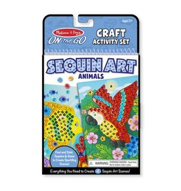 Melissa & Doug On-the-Go Sequin Art Animals