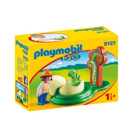 Playmobil Playmobil 123 Girl with Dino Egg 9121