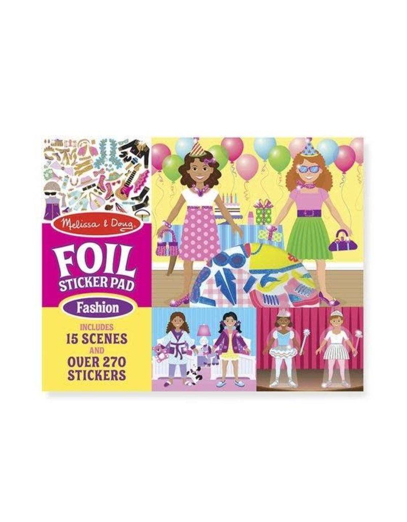 Melissa & Doug Foil Sticker Pad - Fashion